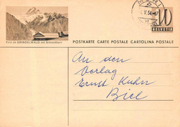 Ganzsachen Bildpostkarte  Grindelwald First - BE Berne