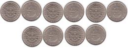 S. Tome E Principe - 5 Pcs X 20 Escudos 1971 AUNC / XF Lemberg-Zp - Sao Tome And Principe