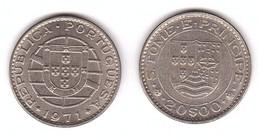 S. Tome E Principe - 20 Escudos 1971 AUNC / XF Lemberg-Zp - Sao Tome And Principe