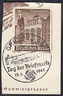 DR  751, Auf Briefstück Mit Sonderstempel: Dresden Tag Der Briefmarke 12.1.1941 - Briefe U. Dokumente