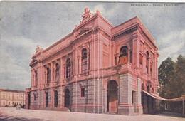BERGAMO-TEATRO DONIZETTI-CARTOLINA  VIAGGIATA IL 10-1-1911 - Bergamo