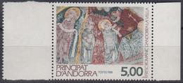 ANDORRA Franz.  396, Postfrisch **, Religiöse Kunst, 1988 - Neufs