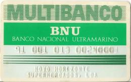 PORTUGAL - MULTIBANCO (ATM) - Banco Nacional Ultramarino - Credit Cards (Exp. Date Min. 10 Years)