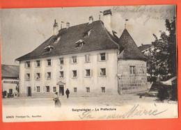 ZLI-18 RARE  Saignelégier La Préfecture Et Restaurant De La Poste. ANIME. Circ. 1906 Vvers Br. - JU Jura