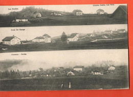 ZLI-21 RARE Multivues Les Bois,Les Rosées,Sous-les-Rangs,Cerneux-Godat ANIME. Circ. 1910 Vers Br. - JU Jura