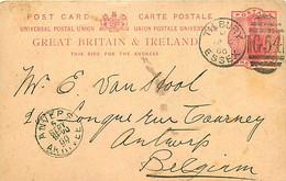 UK. CP P 28 (Mi) Tilbury/ Essex G54  > Antwerpen  4/9/00 - Postmark Collection