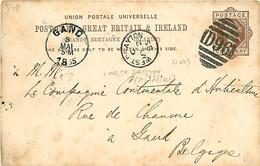 UK. CP P 18 (Mi) Welst Drayton D96 > Gent  2/5/85 - Poststempel