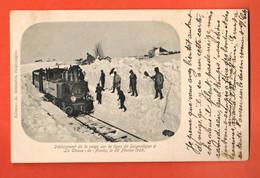 ZLI-31 TRES RARE Ligne Train La Chaux-de-Fonds à Saignelégier Jura, Déblaiement Neige.25.02.1905 Circ. 1906 Sans Timbre - NE Neuchatel