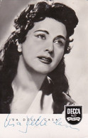 AK Foto Lisa Della Casa - Oper Sängerin Decca - Originalautogramm (54957) - Opera