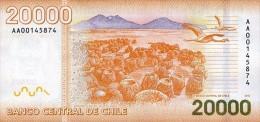 CHILE P. 165d 20000 P 2013 UNC - Chile