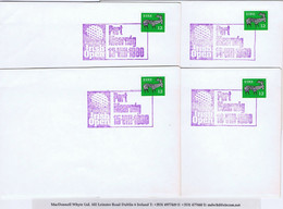Ireland Golf 1980 IRISH OPEN Portmarnock Special Cancels On Plain Covers 13 VIII 1980 To 17 VIII 1980 - Unclassified