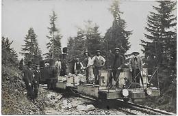 74 - CHAMONIX - Construction Ligne Du Montenvers - CP Photo 1908 - Locomotive - Au Dos : Noms Des Ouvriers De MORZINE - Chamonix-Mont-Blanc