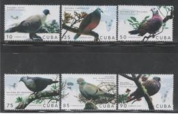 Cuba 2020 Pigeons, Palomas, Dove, Aves, Birds 6v + S/S MNH - Columbiformes