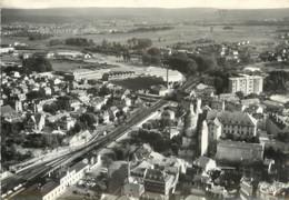 """/ CPSM FRANCE 25 """"Montbéliard, Vue Sur Le Château Et La Place De La Gare"""" - Montbéliard"""