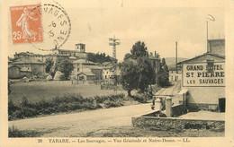 """/ CPA FRANCE 69 """"Tarare, Les Sauvages, Vue Générale Et Notre Dame"""" - Tarare"""