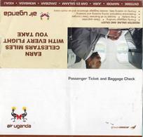 AIR UGANDA  International Passenger Ticket Uganda Entebbe To Juba South Sudan, One Way Around 2011 - World