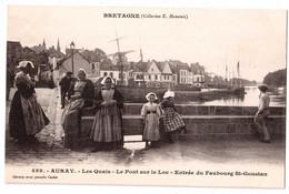 Auray - Les Quais - Le Pont Sur Le Loc - Entrée Du Faubourg Saint-Goustan - édit E.H. Harmonic 489 + Verso - Auray