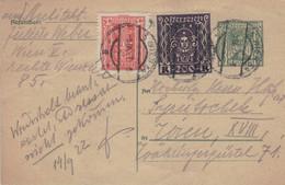 Infla Ganzsache 5 Kronen & 45 + 200 Kronen - Wien IX.1922 - Lettres & Documents