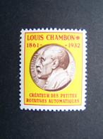 LOUIS CHAMBON N° Ch4 ** NEUVE SANS CHARNIERE VIGNETTE EXPERIMENTALE VIGNETTES EXPERIMENTALES - Proofs