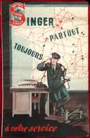 Document Commercial SINGER (machine à Coudre) Cachet De La Succursale De Maubeuge Nord 59 - Advertising