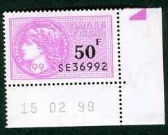 Timbre Fiscal (fiscaux) - Série Fiscale Unifiée (SFU) Neuf N° 507 - Coin Daté Du 15/02/1999 - Fiscale Zegels