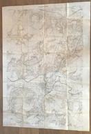 Carte 1917 Secteur SOISSONS Ligne Française 1:20 000 - 1914-18