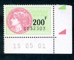 Timbre Fiscal (fiscaux) - Série Fiscale Unifiée (SFU) Neuf N° 510 - Coin Daté Du 15/05/2001 - Fiscale Zegels