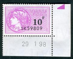 Timbre Fiscal (fiscaux) - Série Fiscale Unifiée (SFU) Neuf N° 504 - Coin Daté Du 29/01/1998 - Fiscale Zegels
