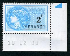 Timbre Fiscal (fiscaux) - Série Fiscale Unifiée (SFU) Neuf N° 502 - Coin Daté Du 10/02/1999 - Fiscale Zegels
