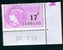 Timbre Fiscal (fiscaux) - Série Fiscale Unifiée (SFU) Neuf N° 505 - Coin Daté Du 20/03/1998 - Fiscale Zegels