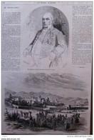M. Troplong, Président Du Sénat - Algérie, Vue D'Ain-Maadhi - Page Original 1869 - Historical Documents