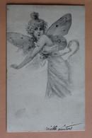 Ange Anges  Ailes De Papillon 1905 Dos Non Divise - Angels