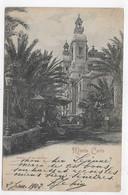 (RECTO / VERSO) MONTE CARLO EN 1902 - THEATRE ET JARDIN - TIMBRE ET CACHET DE MONACO - PLIS ANGLE BAS A GAUCHE ET CENTRE - Opera House & Theather