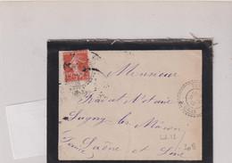 ALGERIE-L OB-boitier Facteur TURGOT  5/2/1912 ORAN - Autres