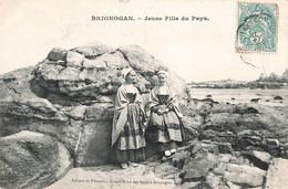 29 Brignogan Jeune Fille Du Pays Jeunes Filles Coiffe Bretonne , Voir état Ci Dessous - Brignogan-Plage