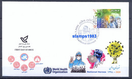 2020 - FDC National Heroes Stamp , Corona , Covid 19 - Iran - Iran