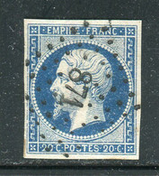 Superbe N° 14A Cachet PC 871 ( Civray ) - 1853-1860 Napoleon III