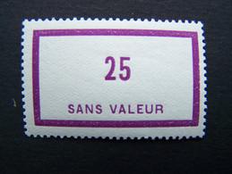 FICTIFS NEUF ** N°F 58 SANS CHARNIERE (FICTIF F58) - Fictie