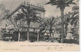 CANNES ( 06 )  CAFÉ  DES  ALLÉES  ET  MONUMENT  LORD  BROUGHAM  - CPA  ( 21 / 3 / 249 - Cannes