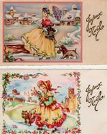ILLUSTRATEUR   LUCE ANDRE   Joyeux Noël    2 Cartes - Andere Illustrators