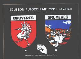 Gruyères - écusson Autocollant Vinyl Lavable - FR Fribourg