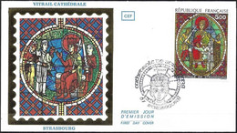 France 1985 - FDC Mi 2494 - YT 2363 ( Vitrail De La Cathédrale De Strasbourg ) - 1980-1989