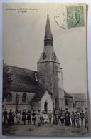 Carte Postale Fresnay L'Evêque L'église 1921 Animée - Andere Gemeenten