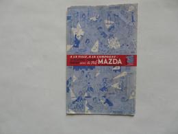VIEUX PAPIERS - BUVARD : MAZDA - Electricity & Gas