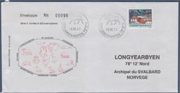 Association Pégase Longyearbyen 18.03.91 Archipel Du Svalbard Enveloppe 1 Timbre - Cartas