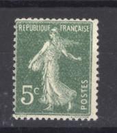 0ob  0518  -  France  :  Yv  137a  *    Type I - 1906-38 Semeuse Camée