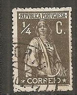 PORT - Yv. N°  206A   (o) 1/4c Brun-olive Cérès Papier Couché Cote 0,75 Euro BE - Usado