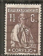 PORT - Yv. N°  209A Dent 15  (o)  1 1/2 C Brun-lilas Cérès Papier Couché Cote 3,5 Euro BE - Usado