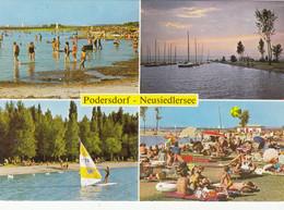 1441) PODERSDORF - Neusiedlersee - Strand Viele Badende - Boote - SEGELBOOT - Top !! - Neusiedlerseeorte