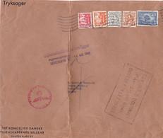 Devant Envoi Société Sciences Aff 2,40 Kr Kobenhavn 14/8/1942 Autorisation Exportation Censure Et Visa Douanier à Paris - Briefe U. Dokumente